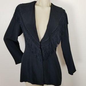 Vintage fringe Knapp studio jacket/blazer